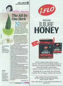 i-flo indian jujube honey featured in news paper