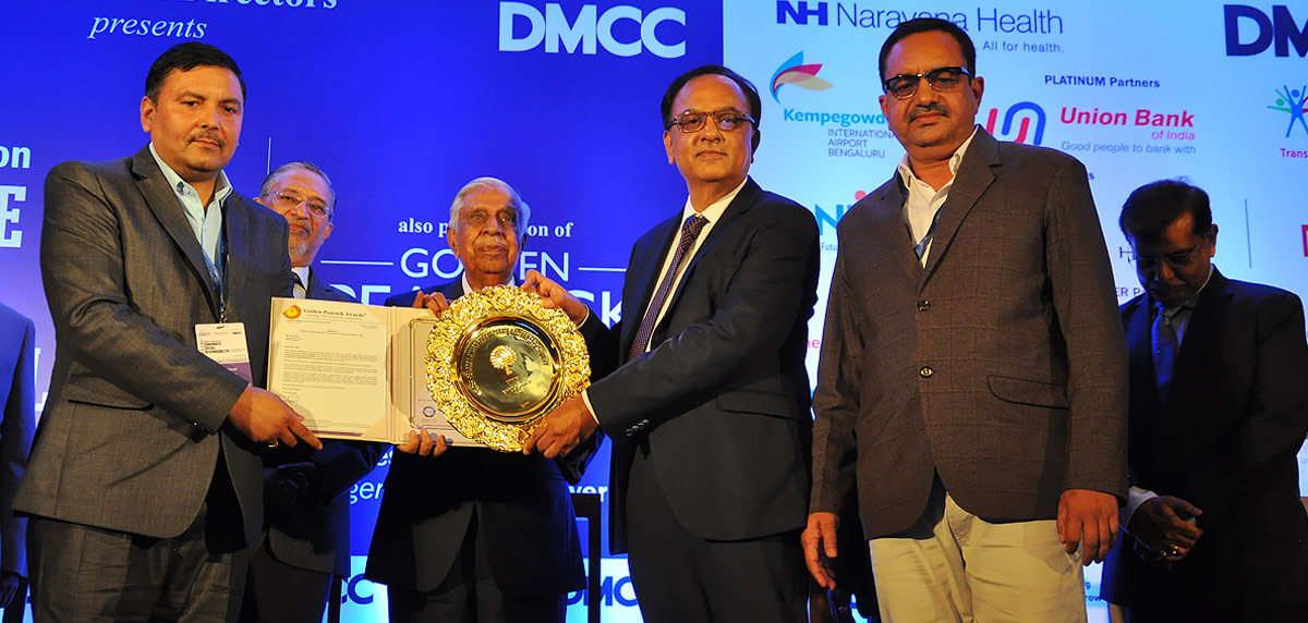GHCL Receiving Golden Peacock Award for CSR