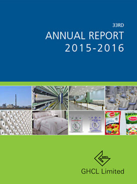ghcl limited - 33rd annual report 2015-16