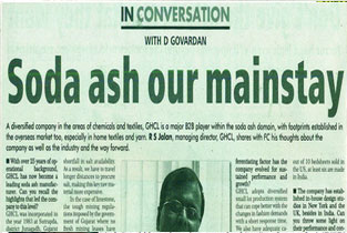 Soda Ash Our Mainstay